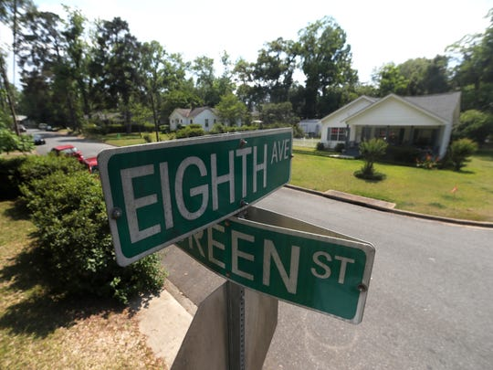 Eighth Avenue and Green Street in the Levy Park neighborhood where a proposed variance request that would have allowed eight units, on lots that currently hold two homes, was denied on Thursday.