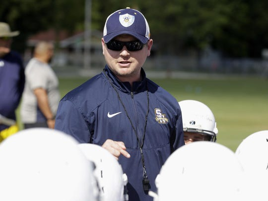"Chris Zablocki has been at two schools in the past four years but is hoping Sheboygan Falls is ""the one"" after being named coach Friday."