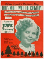 """The 1936 movie Stowaway featured the upbeat tune """"That's What I Want for Christmas,"""" sung by Shirley Temple. Courtesy of The Strong, Rochester, New York."""
