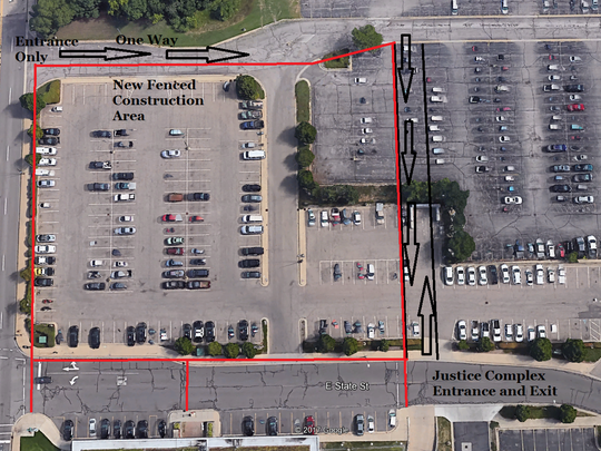 Traffic around the Battle Creek police station construction will be rerouted beginning next week.