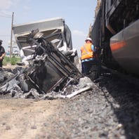 Train, semi collide at Brantley Road and U.S. Highway 285