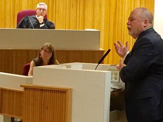 Kirk Evenson, attorney representing Glacier County, tells the supreme court Wednesday there was not deficit spending going on in the county.