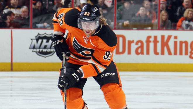 Jake Voracek is set to return to the lineup after missing 10 games with a left foot injury.