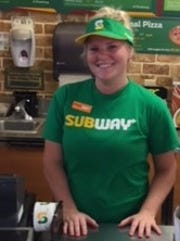 Aleigha Parsons of Cardington is one of 200 Subway