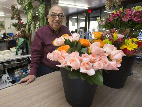 Nick Nakagawa, 92, owner of Baseline Flower Growers,
