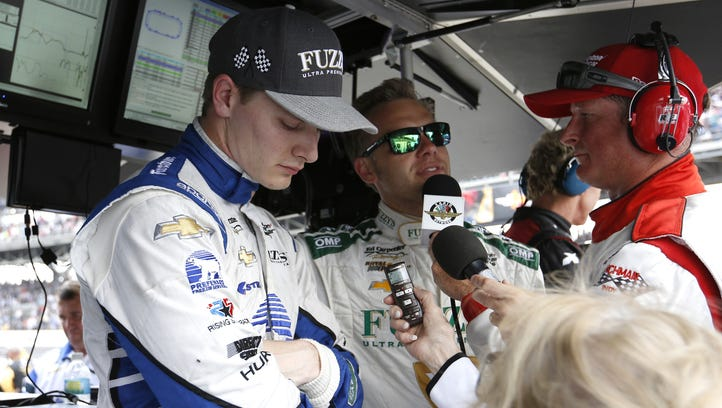 Josef Newgarden (shown here in May at Indianapolis Motor Speedway) has been cleared to resume racing activities following Sunday's crash at Toronto.