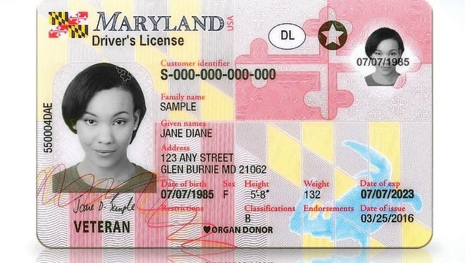 Maryland unveiled new driver's licenses Monday.