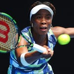 Venus Williams in action during the Australian Open.