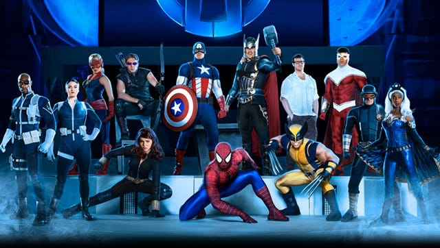 """""""Marvel Universe Live!"""" features state-of-the-art show elements, innovative set designs, pyrotechnics, and aerial stunts"""