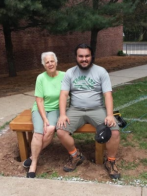 Nicholas Eckert, 17, recently completed building six benches at Woodrow Wilson Elementary School in New Brunswick as part of his Eagle Scout project. The project, which will be dedicated Wednesday during a school assembly, was installed Saturday.