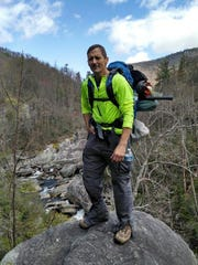 Todd Allen hikes in the Smoky Mountains. He will appear
