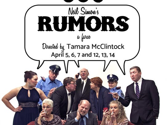 "Great River Arts is producing ""Rumors"" by Neil Simon"