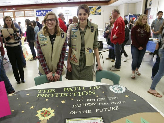 Another project was one created by Coral Wappler and Emma Brashaw, Girl Scouts who raised $320 and learned to use professional tools to create a new path at Camp Evelyn in Plymouth