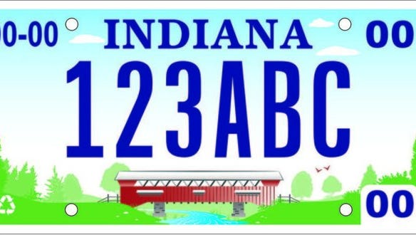 One of the new potential Indiana state license plates.