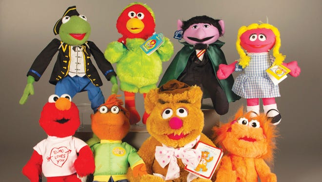 Plush Muppet toys, now a part of the collection at The Strong.