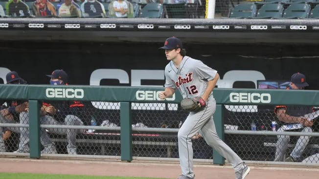 Detroit Tigers pitcher Casey Mize takes the field for his debut against the Chicago White Sox on Wednesday.