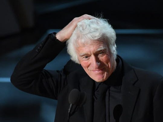 Roger A. Deakins accepts the best cinematography Oscar
