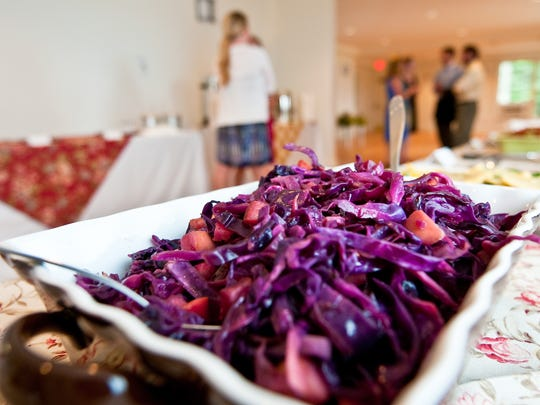 Sauteed red cabbage made with apple cider syrup. A