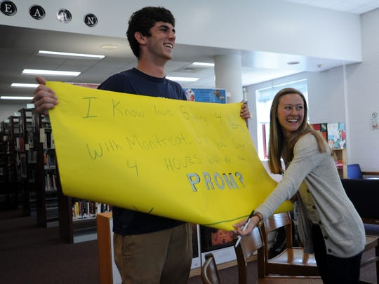 Signing with Montreat College wasn't the only thing that brought a smile to senior Sarah Muncy's face on May 10. After she signed to play volleyball for the Cavaliers, fellow senior and standout Owen athlete Brian Bartlett asked her to the prom.