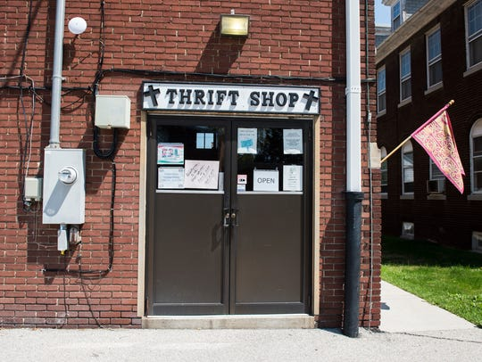 St. Vincent's Thrift Shop at the rear of 224 Third
