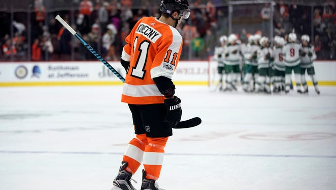 Travis Konecny and the Flyers will do a little extra homework before Tuesday's rematch against the Minnesota Wild.