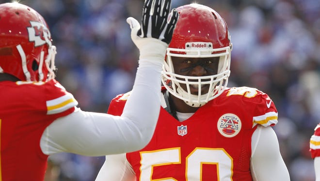 Justin Houston has emerged as a pass rushing force for the Chiefs.