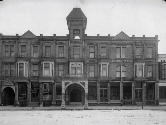 The Grand Hotel was located on the south side of Center
