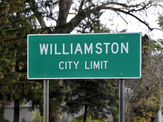 Williamston city limit sign