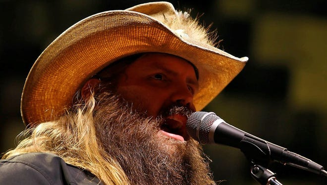 Country music singer-songwriter Chris Stapleton performs May 19, 2017, at the Ak-Chin Pavilion in Phoenix.