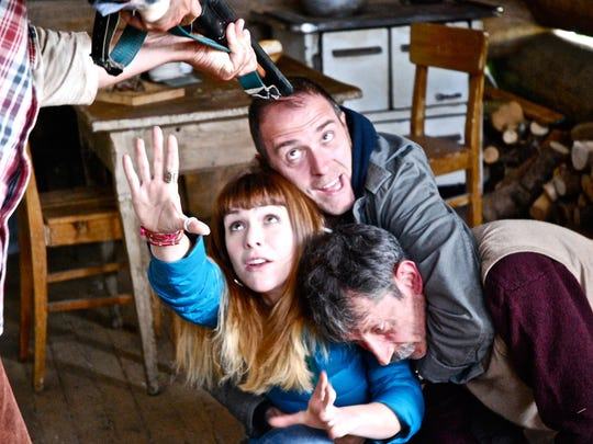 """Valerio Mastandrea, Isabella Ragonese and Fabrizio Bentivoglio in """"The Chair of Happiness."""" It screens April 11, 2015, at Henry Ford College as part of the Italian Film Festival USA."""