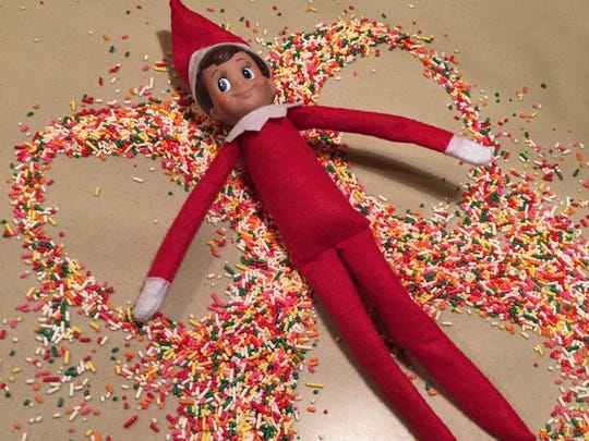 Elf on the Shelf sprinkles angel.