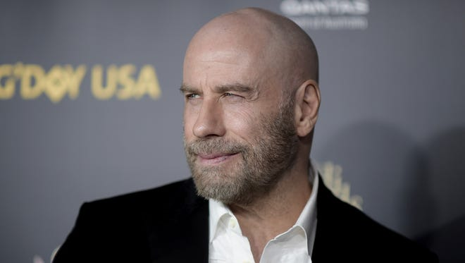 John Travolta attends the 2019 G'Day USA Los Angeles Gala at 3Labs in Culver City, Calif.