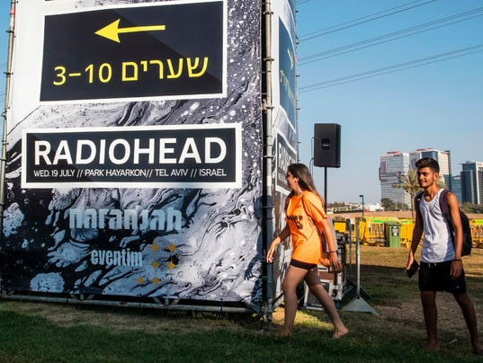 Image result for Radiohead Israel