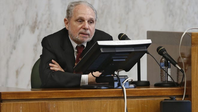 Arthur Goldberg, director of JONAH, testifies in the trial Ferguson vs. JONAH  (Jews Offering New Alternatives for Healing), Monday, June 8, 2015 in Jersey City In a first-of-its-kind trial, four former clients are suing the gay conversion therapy organization, JONAH for consumer fraud.