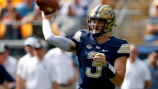 Pittsburgh quarterback Ben Dinucci has decided to transfer. He is the second Pitt QB to transfer in three days. AP FILE PHOTO