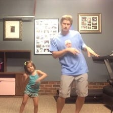 """Father and daughter duo dancing to """"Shake it Off"""""""