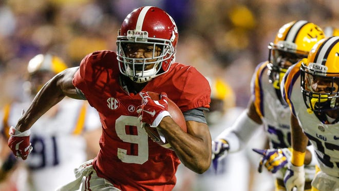Alabama wide receiver Amari Cooper (9) could be a huge challenge for the Bulldogs' No. 120 pass defense.
