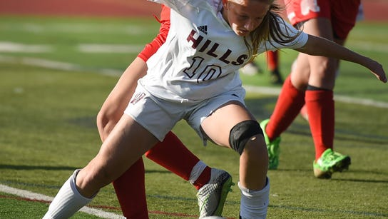 Madison Carlo (10) and Wayne Hills posted a 2-1 win