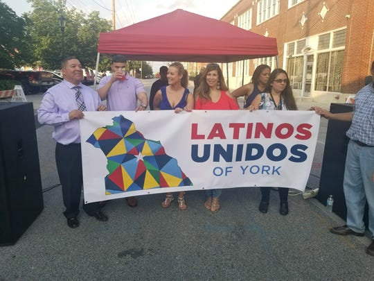 Members of Latinos Unidos of York, a nonprofit organization