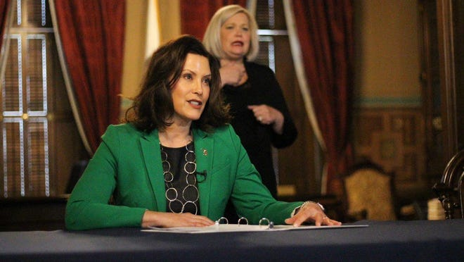 Gov. Gretchen Whitmer announced a three-week COVID-19 'pause' that closes some businesses and halts in-person learning for high school and college students. The order is enforceable with civil fines and criminal penalties.