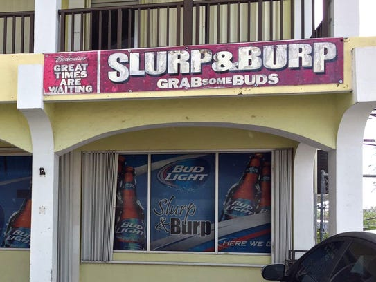 Slurp and Burp bar in Harmon is shown in this photo