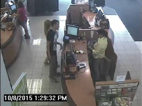 Suspects in burglaries at Bell Tower shops.