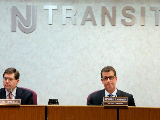 New Jersey Transit Acting Commissioner Richard T. Hammer