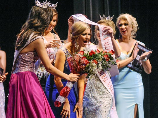 Tori Alberti is announced as Miss Central Valley 2015 at the LJ Williams Theatre in Visalia on Saturday, February 28, 2015.