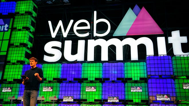 Paddy Cosgrave, founder of The Web Summit, speaks at the opening of the summit in Dublin, Ireland, on Nov. 3, 2015.