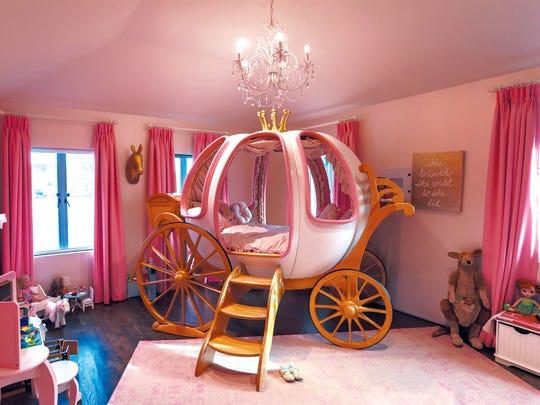 Fairy-tale-inspired girl's bedroom designed by Edgewater interior designer Vanessa Deleon.