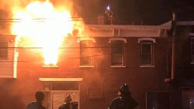 Firefighters respond to an apartment fire at 1 Broad St. in Haverstraw on Dec. 19, 2016.