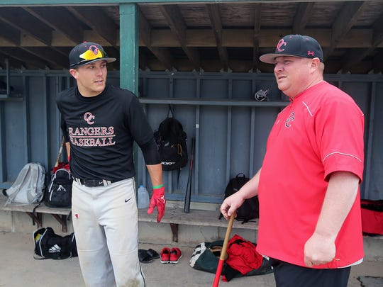 Olympic College coach Ryan Parker, right, took a chance on Ben Koler recovering from injury.