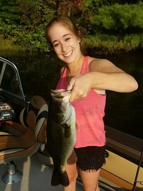 Jessica Byrne reeled in this 4-pound largemouth bass