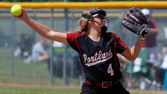Shelby Battley and Portland are the lone mid-Michigan softball team alive in the state tournament.